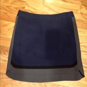 Max Mara navy blue and grey skirt